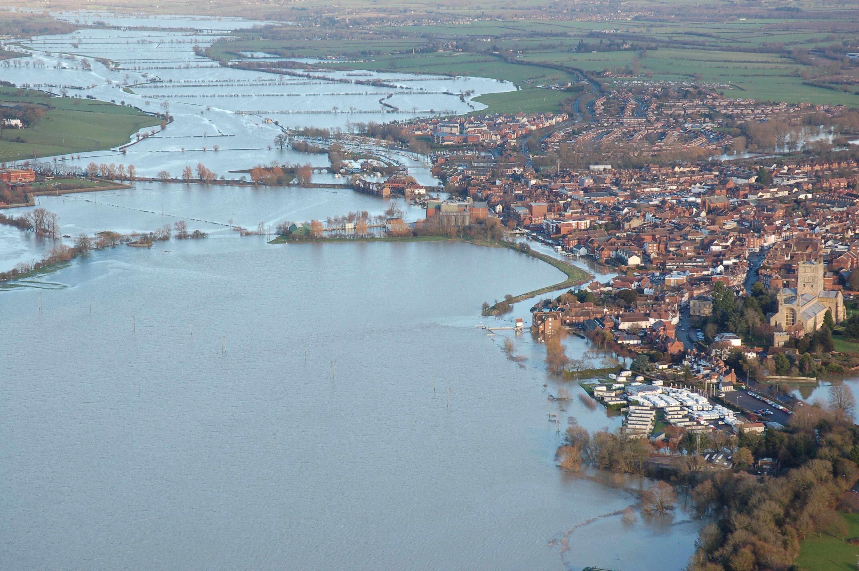 Flooded Tewkesbury
