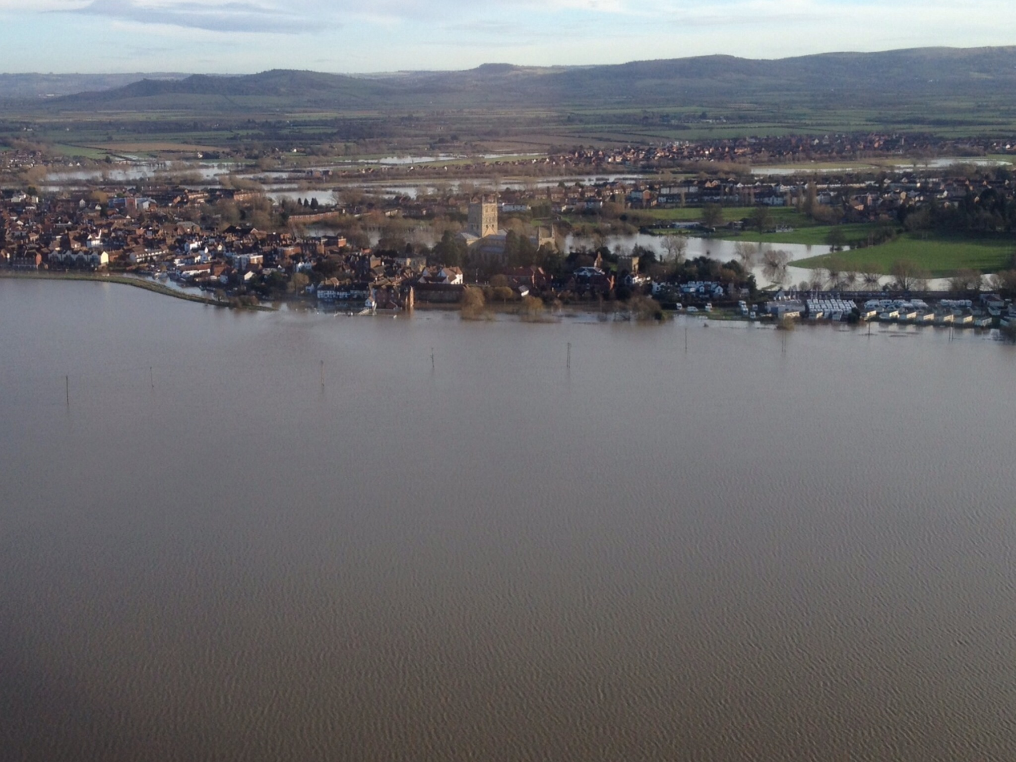 Tewkesbury flooded
