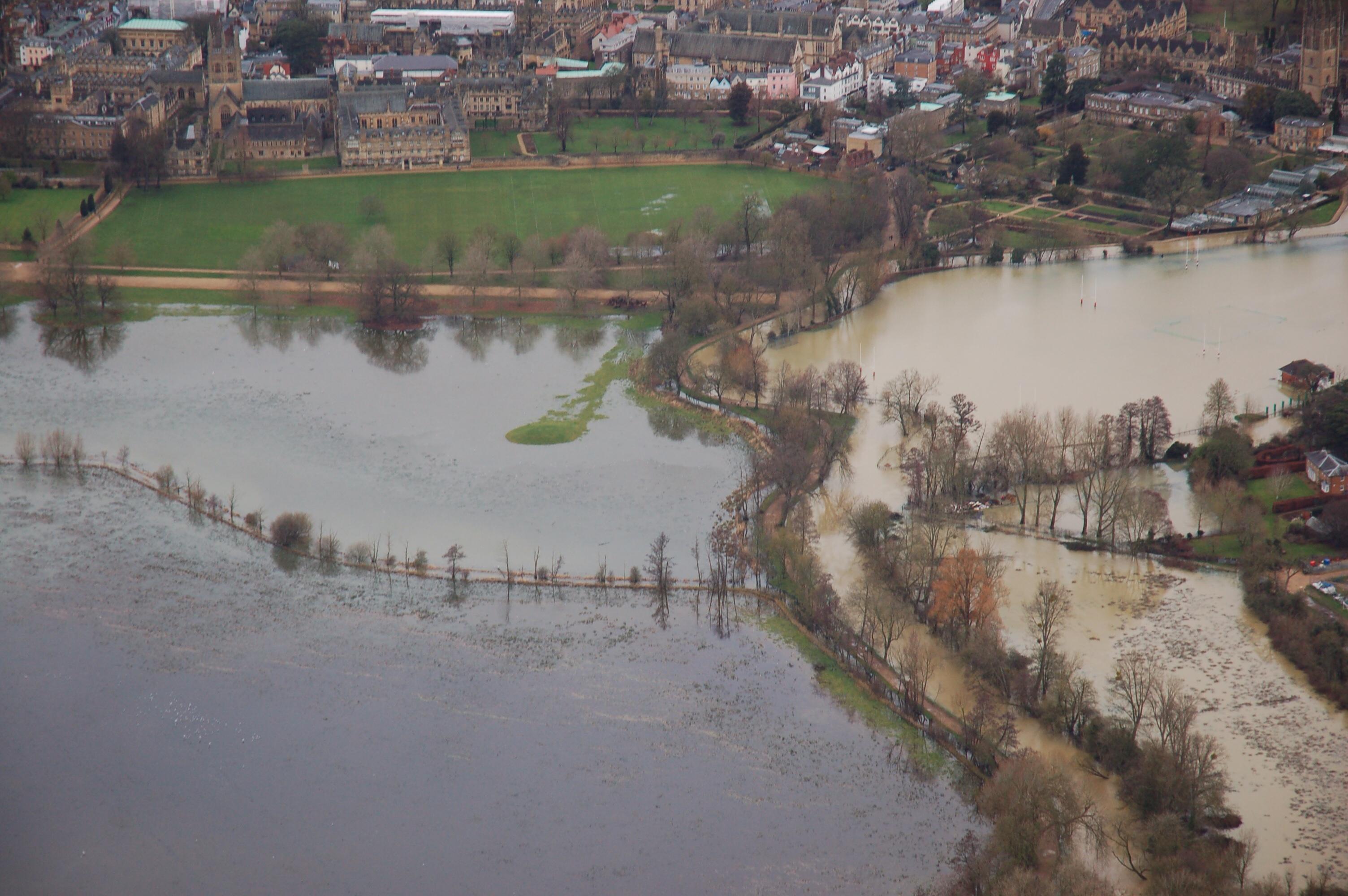 Christ Church Meadow, Oxford, in flood