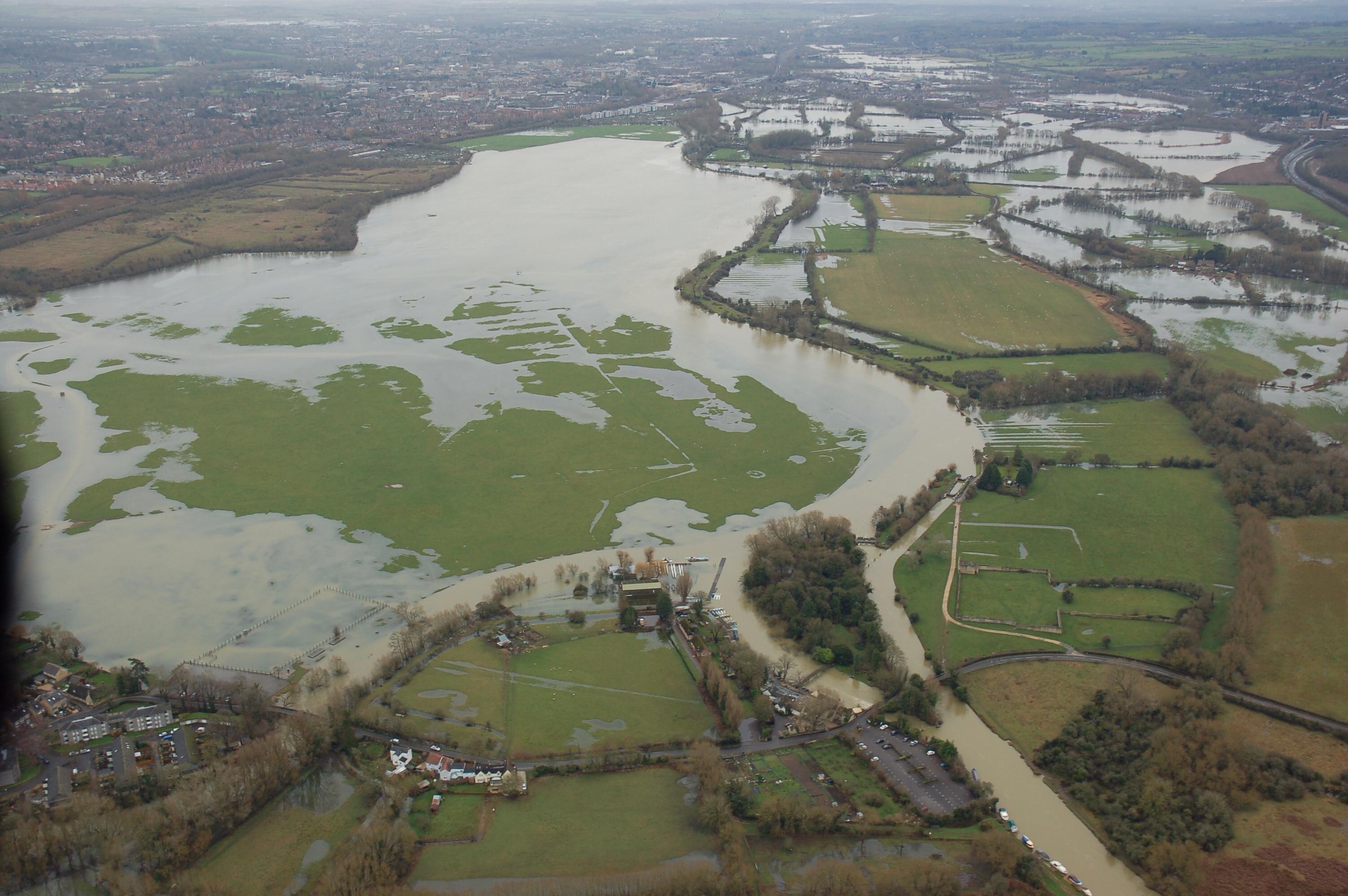 Port Meadow, Oxford in flood
